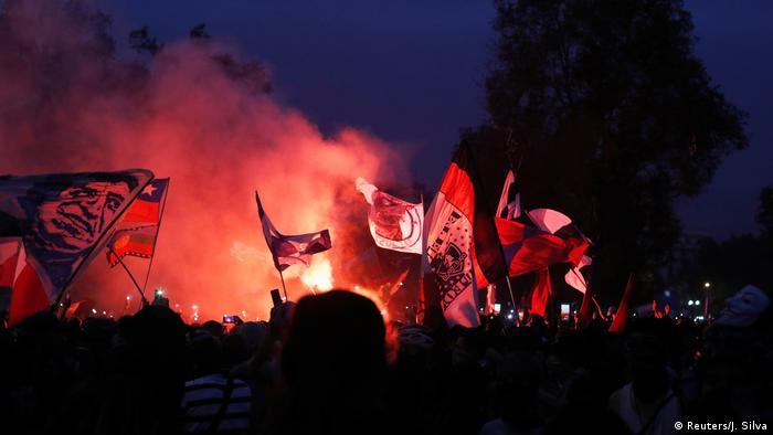 Protest gegen Chiles Regierung in Santiago (Reuters/J. Silva)