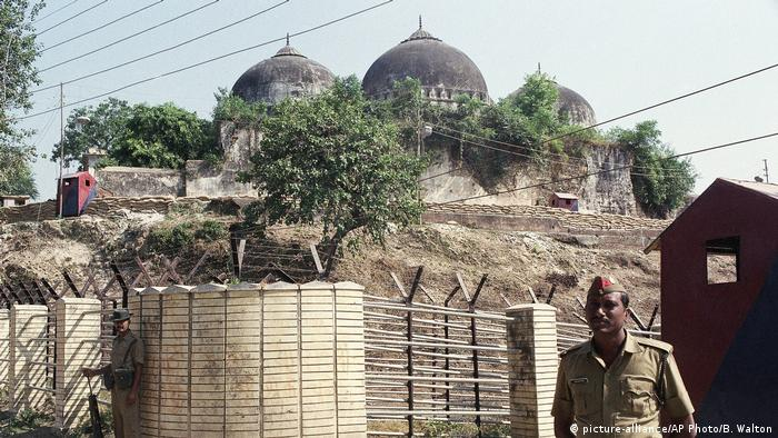 Babri mosque in Ayodhya in 1990