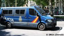 Streifenwagen der Polizei in Spanien.