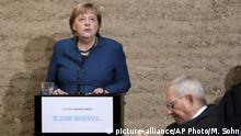 Deutschland Berlin Gedenkfeier 30 Jahre Mauerfall Merkel und Schäuble