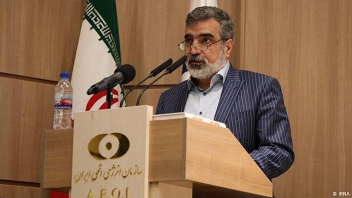 Iran KamalwandiIrán produce desde el lunes por la noche uranio enriquecido al 20%, anunció el portavoz de la Organización de Energía Atómica de Irán (OEAI), Behrouz Kamalvandi, en una entrevista difundida el martes por la televisión iraní. (5.01.2021).