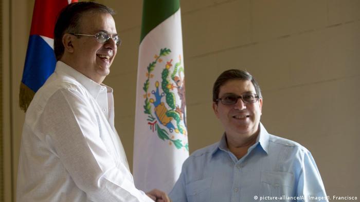 Marcelo Ebrard und Bruno Rodríguez