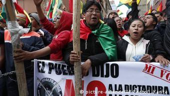 Αντικυβερνητικές διαδηλώσεις ενάντια στην επανεκλογή του Μοράλες