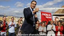 Vor der Wahl in Spanien Pedro Sanchez