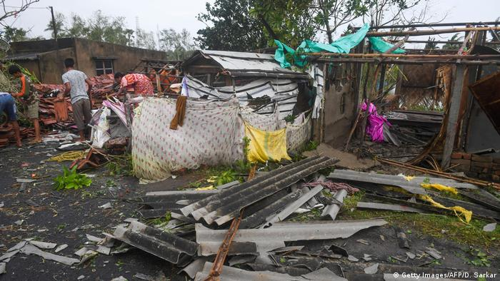 Bakkhali residents clear debris after Cyclone Bulbul hits