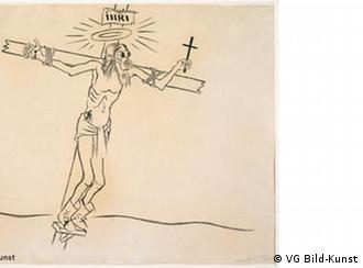 Жорж Грос. Христос в газовой маске, 1927