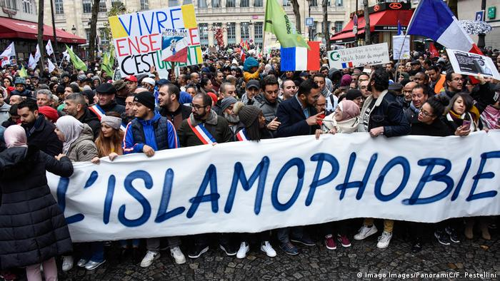A 2019 demonstration against Islamophobia in France
