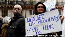 Frankreich Demonstration gegen Islamophobie in Paris
