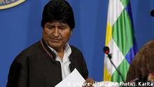 Bolivien PK Präsident Evo Morales in La Paz