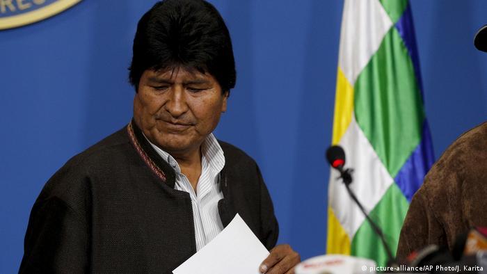 O ex-presidente da Bolívia Evo Morales