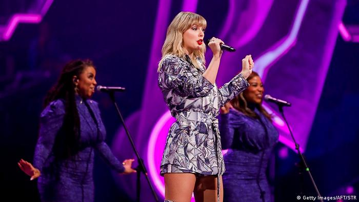 Taylor Swift durante una gala realizada en China