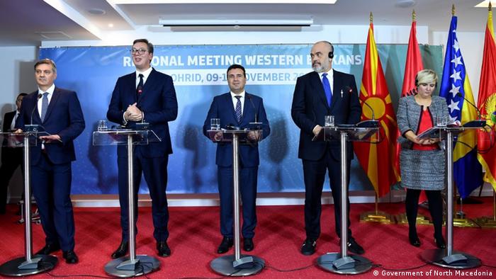 Susret elite zapadnog Balkana u Sjevernoj Makedoniji: Denis Zvizdić (BiH), Aleksandar Vučić (Srbija), Zoran Zaev (Sjeverna Makedonija), Edi Rama (Albanija)