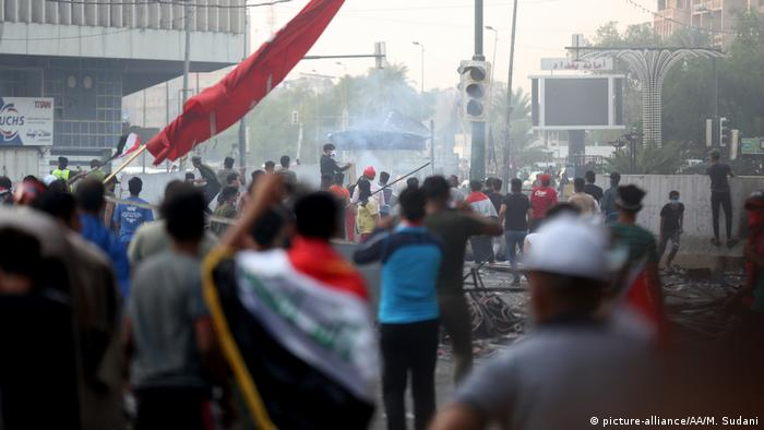 Irak: Proteste in Bagdad (picture-alliance/AA/M. Sudani)