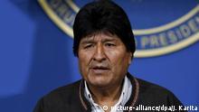 Bolivien Präsident Evo Morales kündigt Neuwahlen an