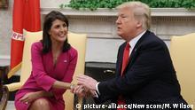 Washington Oval Office Nikki Haley bei Trump