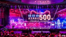 China AliBaba Singles Day Online Shopping Festival Umsatzanzeige (AFP)