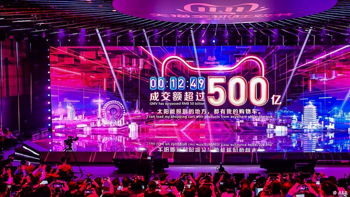 China Singles Day Online Shopping Festival Umsatzanzeige (AFP)