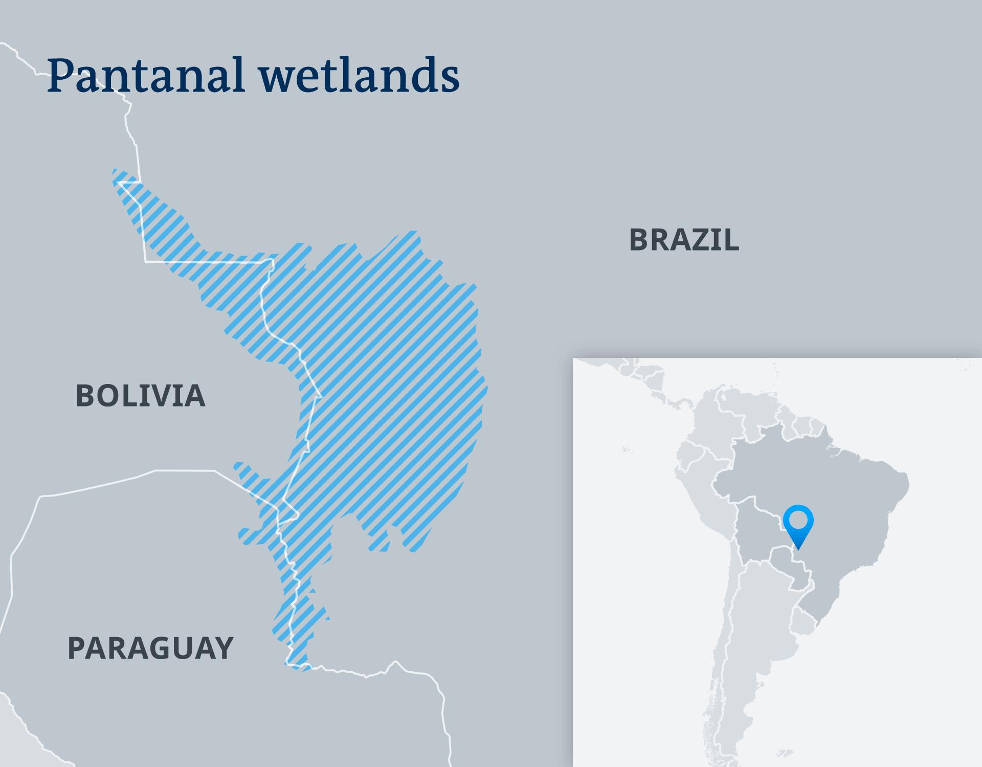Map of Pantanal wetlands
