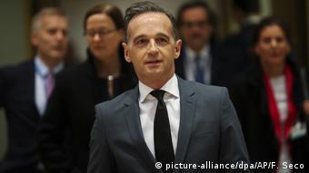 Ο Γερμανός Υπουργός Εξωτερικών Χάικο Μαας στο Συμβούλιο Υπουργών Εξωτερικών της ΕΕ