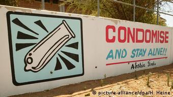 Εκστρατεία ενημέρωσης για το AIDS στη Μποτσουάνα της Αφρικής