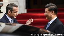 Griechenland Besuch Präsident Xi Jinping (Getty Images/AFP/A. Messinis)