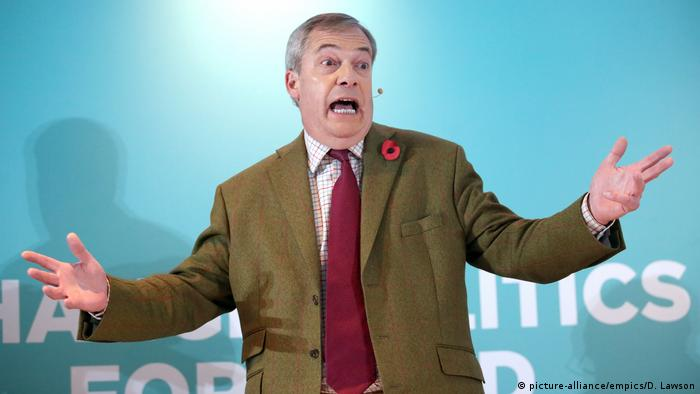 Großbritannien Wahlkampf | Nigel Farage, Brexit Party (picture-alliance/empics/D. Lawson)