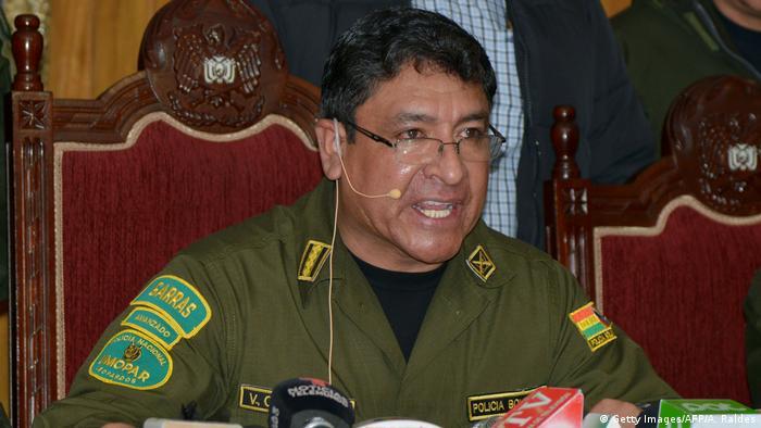 Bolivijski general Jurij Kalderon