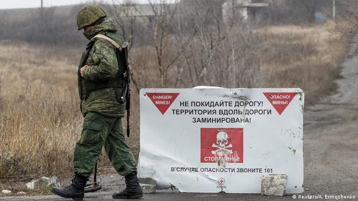 A rebel fighter in Petrivske