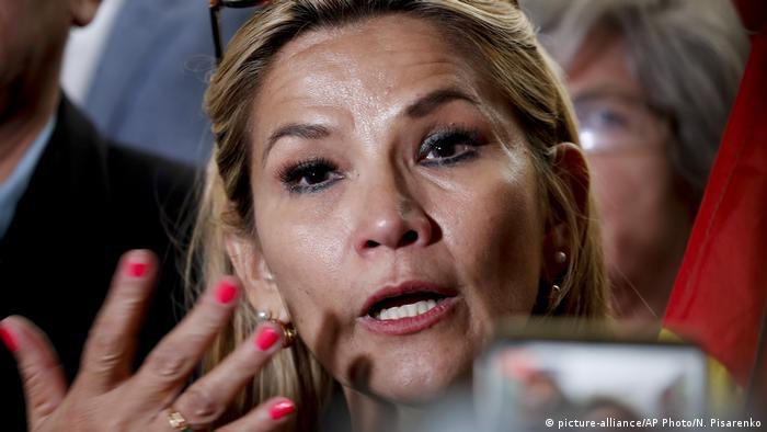 Bolivien Proteste | Jeanine Anez, zweite Vizepräsidentin des Senats