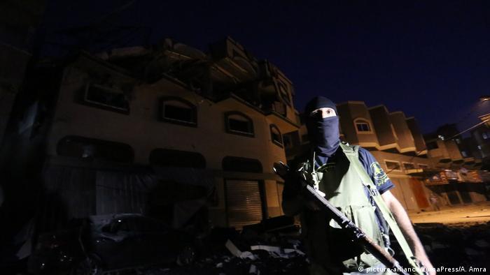 Das zerstörte Haus von Baha Abu Al Ata