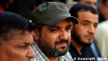 FILE PHOTO: Palestinian Islamic Jihad commander Baha Abu Al-Ata attends an anti-Israel military show at Al-Shati refugee camp in Gaza City, June 20, 2019. REUTERS/Mohammed Salem/File Photo