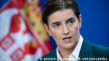 Deutschland Serbien Ana Brnabic zu Gast bei Merkel