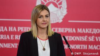 Nord-Mazedonien l Pressekonferenz in Skopje mit Angelovska und Zaev