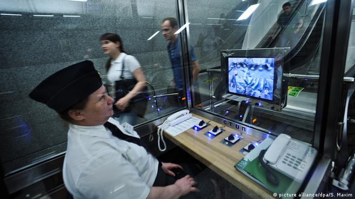 Moskau Russland U-Bahn Metro