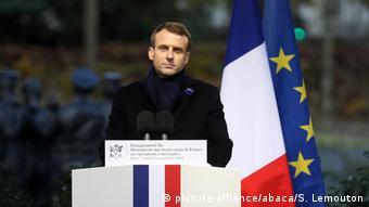 101. Jahrestag des Waffenstillstands - Paris | Emmanuel Macron (picture-alliance/abaca/S. Lemouton)