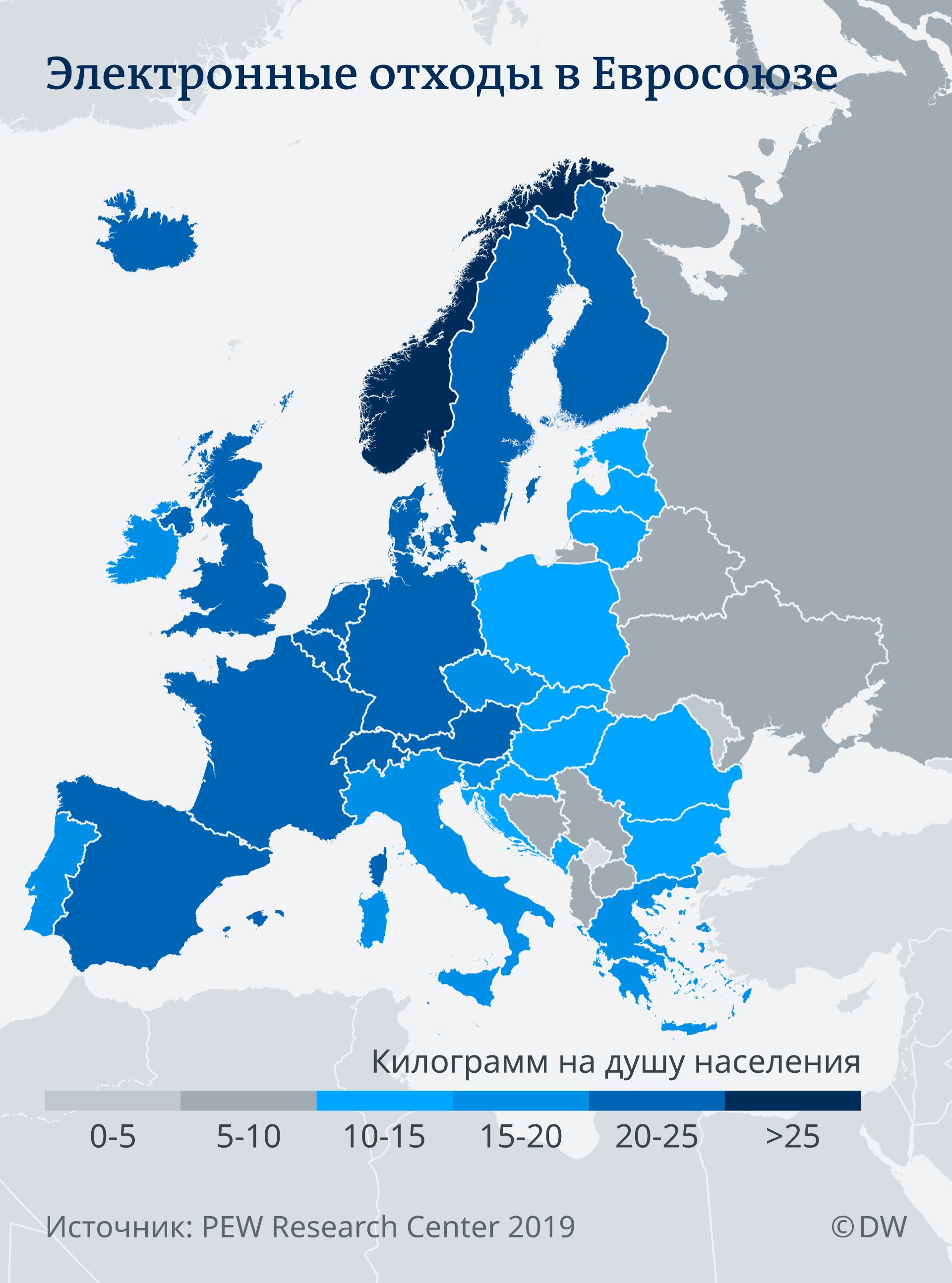 Электромусор в ЕС. Инфографика