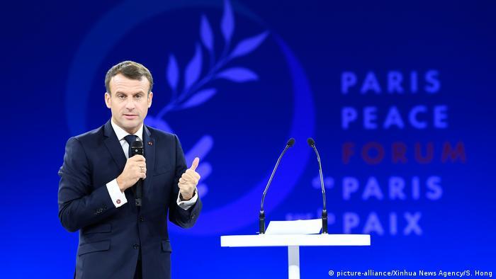 Frankreich Paris Peace Forum | Emmanuel Macron, Präsident Frankreich