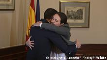 Spanien Parlament Madrid | Abkommen Pedro Sanchez, Premierminister & Pablo Iglesias, Podemos