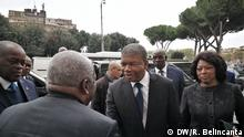 Angolanischer Präsident João Lourenço zu Besuch im Vatikan am 12. November 2019 Wann wurde das Bild gemacht?: 12.11.2019 Wo wurde das Bild aufgenommen?: Vatikan © DW/R. Belincanta