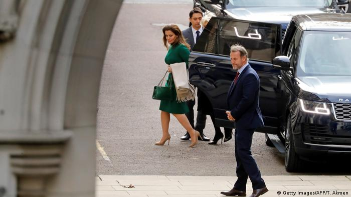 Princess Haya arrives to the court date in London