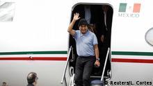 Mexiko Stadt | Ankunft Evo Morales, Ex-Präsident Bolivien