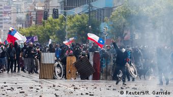 Chile Proteste & Ausschreitungen in Valparaiso