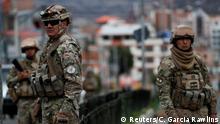 Bolivien Militär in La Paz