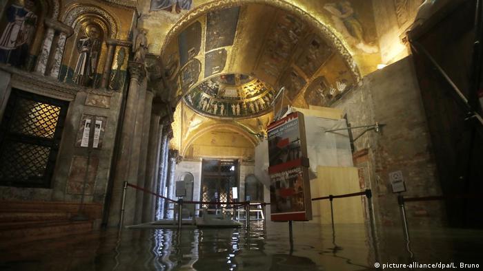 Затоплена крипта в Базиліці Святого Марка: морська вода - загроза для фресок