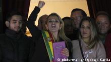 Bolivien, La Paz: Boliviens Senatorin Jeanine Anez
