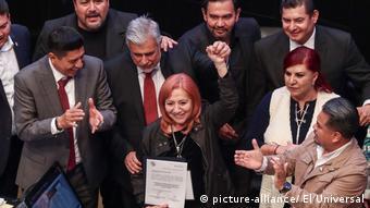 Foto de Rosario Piedra Ibarra en el Senado mexicano.