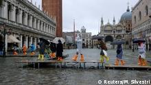Italien Venedig Überschwemmung