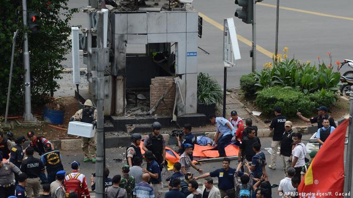 Indonesien | Anschlagserie in Jakarta 2016 (AFP/Getty Images/R. Gacad)