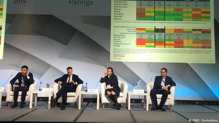 На конференции S&P Global Ratings в Москве, 2019 год