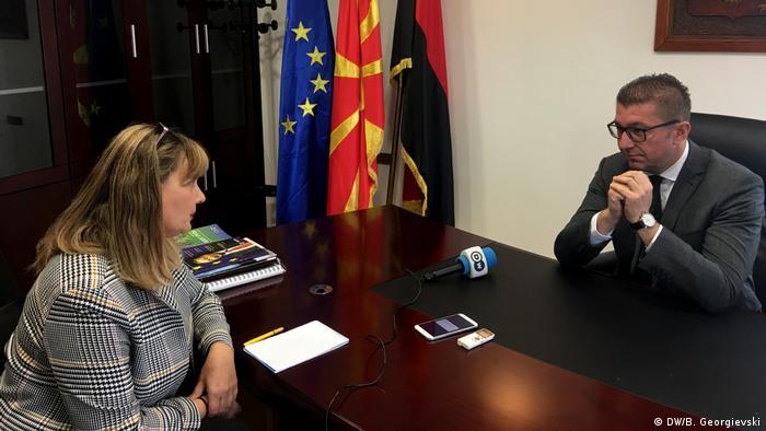 Nord-Mazedonien DW Interview Hristijan Mickovski
